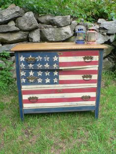 CustoM order red white & blue AMERICAN flag by Cedarappledesigns, $425.00
