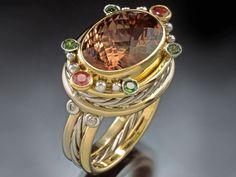 Peach Tourmaline Ring  Agnieszka