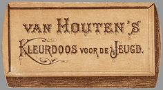 Van Houten's Kleurdoos voor de Jeugd Cocoa Chocolate, Vintage Typography, Old Postcards, Beautiful Artwork, Van Houtens, Cacao, Seeds, Puzzle, 3d