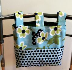 Walker Wheelchair Bag Tote in Joel Dewberry Modern Meadow Dog Wood Bloom Pond. $25.00, via Etsy.