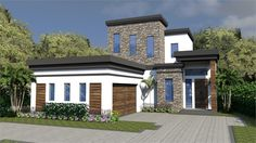 Contemporary House Plan with 3 Bedrooms and 3.5 Baths - Plan 1952