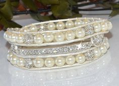 Hey, I found this really awesome Etsy listing at https://www.etsy.com/listing/175592203/crystal-bar-with-pearls-wrap-bracelet