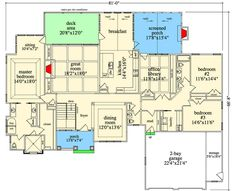 Combine office & kitchen for 1 big kitchen and also make Butler's pantry. Exclusive Craftsman with Optional Lower Level - floor plan - Main Level Best Home Theater, Home Theater Setup, Home Theater Speakers, Home Theater Seating, Home Theater Design, Garage House Plans, Best House Plans, Craftsman House Plans, Dream House Plans