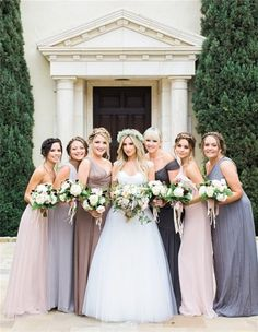 Ashley Tisdale con sus damas de honor el día de su boda
