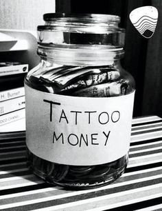 I need to start one of these - tattoo money jar saving bank