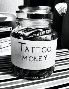 I need to start one of these - tattoo money jar saving bank