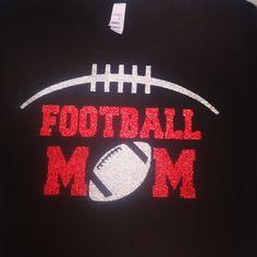 Custom football shirt football mom  by Rocknmamadesigns on Etsy, $25.00