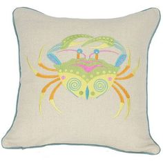 Manor Luxe Archipelago Crab Throw Pillow Fill: Feather