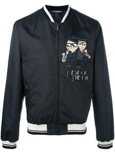 DOLCE & GABBANA Designer'S Patch Bomber Jacket. #dolcegabbana #cloth #jacket