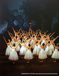 1950s The Corps de Ballet of The Royal Ballet in Swan Lake