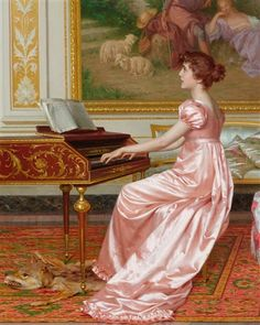 View The Parlor Concert by Vittorio Reggianini on artnet. Browse more artworks Vittorio Reggianini from M. Classic Paintings, Old Paintings, Beautiful Paintings, Renaissance Kunst, Renaissance Paintings, Victorian Paintings, Victorian Art, Arte Pop, Classical Art