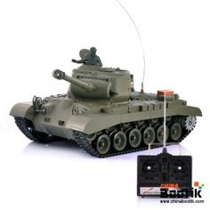 """1/16 Airsoft RC Tank """"Snow Leopard"""" - Movable Barrel, Rotating Turret, Full Suspension, Shoots BB's"""
