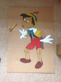 Disney party game, pin Pinochios nose!