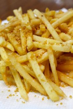 French Fries with Chicharon Dust and Truffle Oil