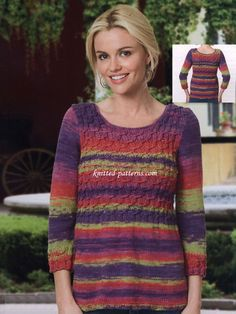 Graceful Dead Top By Helene Rush - Free Knitted Pattern - (knitted-patterns)