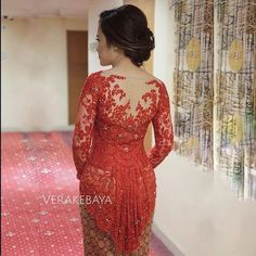 Instagram photo by verakebaya - @nisyanatasha ...❤ #backdetail  ___ Dress by me  ___ #kebaya #partydress #backdetails #eveningdress #batik
