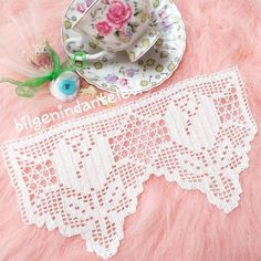 Crochet Edging Patterns, Crochet Lace Edging, Crochet Borders, Doily Patterns, Crochet Doilies, Filet Crochet, Irish Crochet, Easy Crochet, Crochet Toys