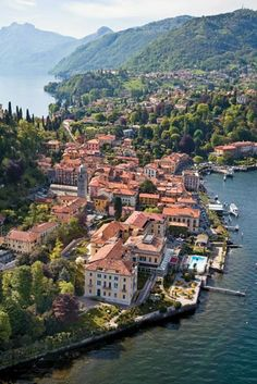 Bellagio, Italy. I've always wanted to visit Italy!