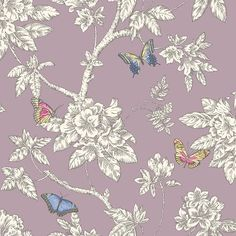 Pink, Purple, Aubergine and Mauve : Holden Tahlia Heather Wallpaper | | The Decorating Shop: Online Wallpaper Store