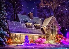 This blog is dedicated to beautiful Gifs. There is something about a beautiful Gif that is... Christmas Scenes, Christmas Villages, Christmas Art, Christmas Greetings, Winter Christmas, All Things Christmas, Christmas Lights, Vintage Christmas, Christmas Ornaments