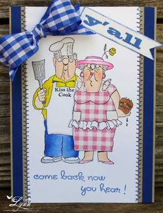Our BBQ Couple! Card by Lynn Hayes