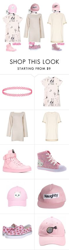 """""""Candy Ninjas_Original """"Candyland"""" Goodbye Stage + First & Last Win"""" by candy-ninjas ❤ liked on Polyvore featuring Miss Selfridge, Rochas, See by Chloé, Acne Studios, Moschino, Hello Kitty and Vans"""