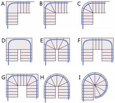curved-stairlift-staircases.png (500×447) option designs for fixing steep basement stairs Option I for loft.