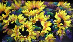 Inspired by Nature Clark Art, Vibrant Colors, Colours, Sunflower Flower, Sunflowers, Flower Art, Pens, Pastel, Portrait