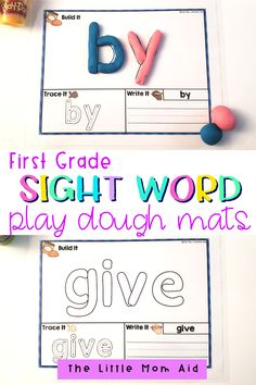 These first grade sight words play dough mats are exactly what you need for your primary school students. Your learners will have fun learning to read and spell sight words! These play dough mats are easy to prepare and implement. They make for an engaging and hands-on literacy center, and spelling and reading lessons. Teaching Sight Words, Sight Words List, First Grade Sight Words, Sight Word Games, First Grade Math, Grade 1, Writing Resources, Classroom Resources, Teaching Resources