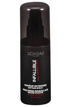 Set Your WorkTo keep all your hard work in place, set your makeup with a setting spray like this one from L'Oréal. Not only will it extend the life of your base, but it won't leave a dry, powdery effect on the skin like many pressed and loose powders do. L'Oréal Infallible Makeup Extender Setting Spray, $16.99, available at Ulta. #refinery29 http://www.refinery29.com/makeup-tips-for-acne-scars#slide-5