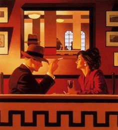 Jack Vettriano - The Man in the Mirror