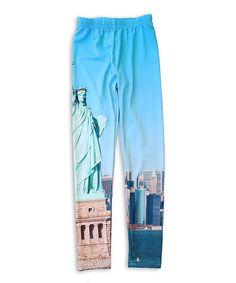 Blue Statue of Liberty Leggings - Toddler & Girls