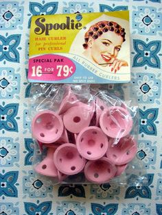 SPOOLIES.....my Mom used these on my straight baby fine hair.  Just roll hair and push down to lock the soft rubber in place....I want some now!