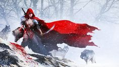The theme this time is near with snow..Red Riding Hood,i just make it little bit twisty with approach to a bit Horror..but i hope you guys likes my work this time...Cheers