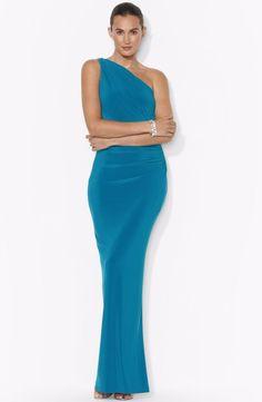 Ralph Lauren One Shoulder Evening Gown. Visit Page - http://www.ebay.com/itm/-/121708184999?roken=cUgayN