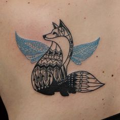 http://tattoo-ideas.us/wp-content/uploads/2014/02/Geometric-Fox-Tattoo.jpg Geometric Fox Tattoo #Animaltattoos