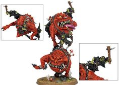 Night Goblins Mangler Squigs for the Warhammer game by Games Workshop.
