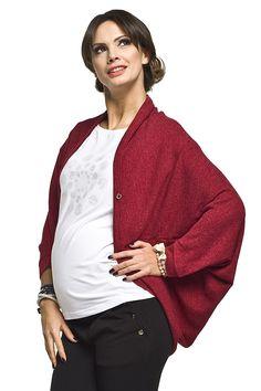 Elegantný  tehotenský kardigán bordovej farby Sweaters, Fashion, Moda, Fashion Styles, Sweater, Fashion Illustrations, Sweatshirts, Pullover Sweaters, Pullover