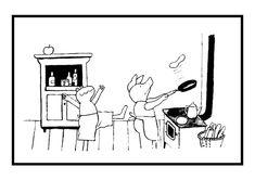 Kleurplaat Eten En Drinken Aan Tafel Kleurplaat Aan