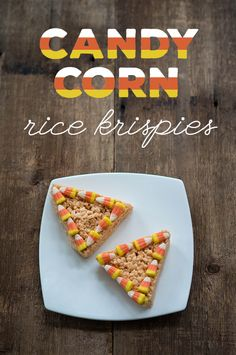 Candy Corn Flavored Rice Crispies for Halloween