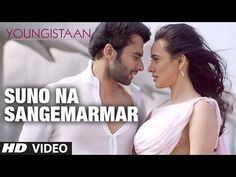 "We bring to you the valentine song of this year ""Suno Na Sangemarmar"" in voice of prolific singer Arijit Singh from movie Youngistaan starring Jackky Bhagnan. Latest Movie Songs, Best Songs, Valentine Songs, Bollywood Movie Songs, Only Song, Indian Drama, Song Hindi, Party Songs, Rap Songs"