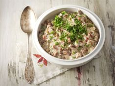 Risotto, Oatmeal, Cooking, Breakfast, Ethnic Recipes, Koti, Drinks, The Oatmeal, Kitchen
