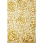 $142.00  KAS Oriental Rugs - Catalina Canary Roses and Romance Contemporary Rug - CAT0797