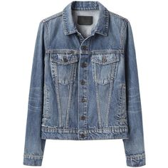 Proenza Schouler Jean Jacket ($495) ❤ liked on Polyvore