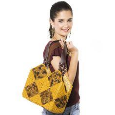 Bolsa de mão marrom Camila Fashion