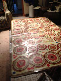 Beautiful Mod Podge Floor Cloth