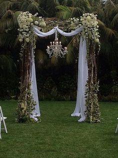 new Ideas for backyard wedding decorations ceremony backdrop hanging flowers Wedding Bells, Diy Wedding, Wedding Flowers, Dream Wedding, Wedding Day, Trendy Wedding, Wedding Rustic, Floral Wedding, Wedding Tips