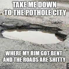 I always think of illinois roads 🤣 Funny Quotes, Funny Memes, Hilarious, Jokes, Sarcastic Quotes, It's Funny, I Smile, Make Me Smile, Funny