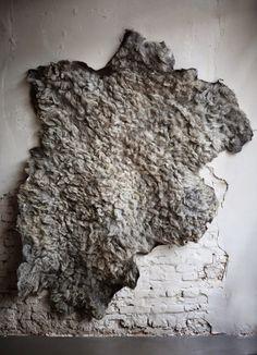Floorabella's beautiful living: January 2015 Felt Cushion, Felt Wall Hanging, Ice Dyeing, Textiles, Nuno Felting, Handmade Felt, Felt Art, Wool Felt, Felted Wool