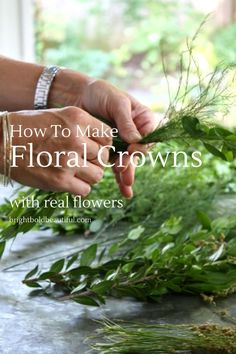 How To Make Floral Crowns with Real Flowers